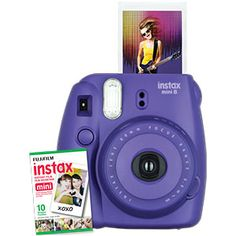 FUJIFILM INSTAX MINI 8 INSTANT CAMERA WITH 10 EXPOSURE FILM - GRAPE |  Now on SALE at the Source!