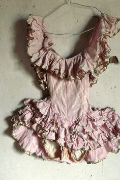 antique showgirl costume