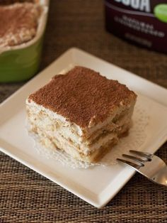 Low-Calorie Tiramisu (Made with Ricotta) by myhappydessert: 114 calories/serving #Tiramisu #Diet