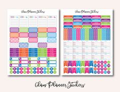 50% OFF SALE Mega Monthly Colorful by GlamPlannerSticker on Etsy