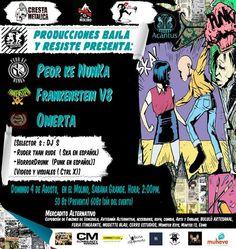 """Cresta Metálica Producciones » Nace Producciones """"Baila Y Resiste"""" apoyando la Movida de la Música desde Caracas!!!"""