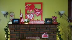 Mantle diy <3 Mantle, Happy Holidays, Neon Signs, Cape, Happy Holi, Mantles, Fireplace Mantel