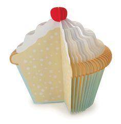 Kikkerland Memo Pad Cupcake
