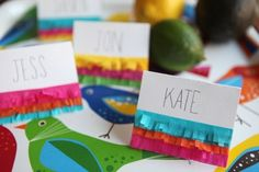 For the Love of Home & Parties - Cinco de Mayo Place Cards