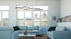 Sleek and modern, the Ultra 8 Pendant Dimming Light features a variety of circular dimming lamps for a unique light source that impresses.