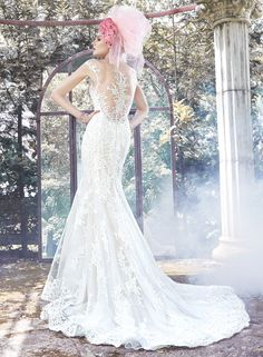 Shop our Maggie Sottero couture bride dress collection at our Bridal Reflections bridal salons. Contact us to schedule your private appointment today! Wedding Dresses Size 14, Ivory Lace Wedding Dress, Fit And Flare Wedding Dress, Formal Dresses For Weddings, Lace Mermaid Wedding Dress, Wedding Dress Trends, Bridal Dresses, Tulle Wedding, Sottero And Midgley Wedding Dresses