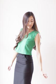 Constant Threads Kendall Crop Top ($58), Cara Pencil Skirt ($78)