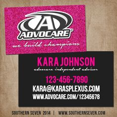 DoubleSided Advocare Business Cards Pink & by MaryBobbinsBoutique ...