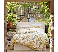 Pick-Stitch Quilt & Sham   Pottery Barn - same color bedskirt as headboard!