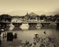 Srinagar Cashmere, Albumen Print India Circa 1880′s
