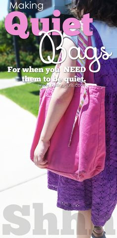 Be it church or another meeting, a good quiet bag is ESSENTIAL to both you and your child making it through the meeting (and hopefully not hating it).