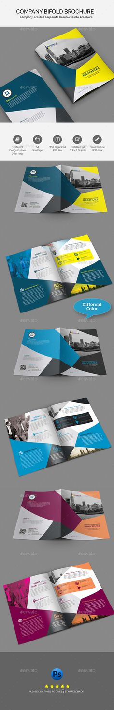 Bifold Business Brochure Template - #Brochures Print #Templates Download here: https://graphicriver.net/item/bifold-business-brochure-template/19492617?ref=alena994
