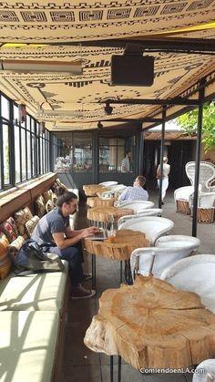 Restaurant Interior Design, Shop Interior Design, Cafe Design, Ace Hotel, Deco Restaurant, Outdoor Restaurant, Rustic Cafe, Outdoor Cafe, Outdoor Seating