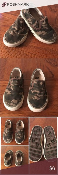Camo slip on sneakers Slightly worn still in good conditions. Price is firm Children's Place Shoes Sneakers