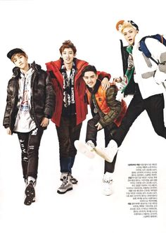DO, Chanyeol, Sehun and Baekhyun - InStyle Magazine November Issue