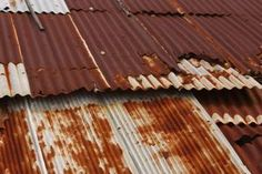 Rusty roofing may not look great outdoors, but planned rust can be a decorative element.