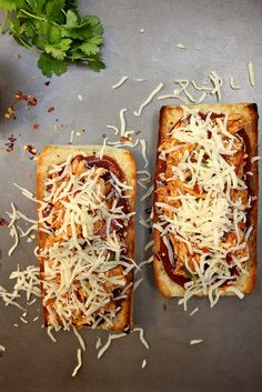 We grew up on French bread pizzas!