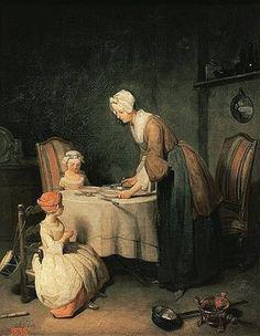 Jean-Baptiste Siméon Chardin: Das Tischgebet. 1744.