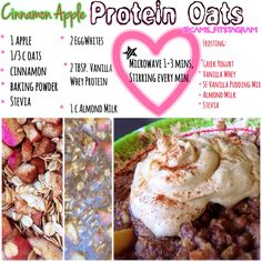 Cinnamon Apple Protein Oatmeal Step by Step