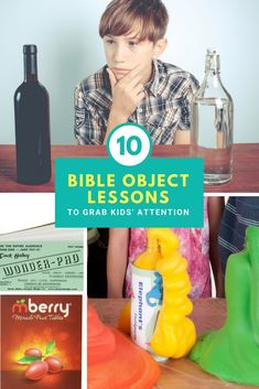 That's why I wanted to share some of our favorite object lessons with you. Hopefully, this list will save you some time and help you create a fun service for your kids. Sermons For Kids, Devotions For Kids, Childrens Sermons, Bible Study For Kids, Bible Lessons For Kids, Kids Bible, Sunday School Kids, Sunday School Lessons, Christ Object Lessons