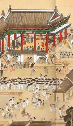 Korean Painting, Korean Hanbok, Oil Rig, Korean Art, Korean Traditional, Old Paintings, The Old Days, Figure Painting, Art World