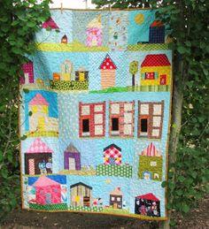 Blue Elephant Stitches: House Quilt