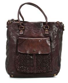 wardow.com - Tasche von Campomaggi, Lavata Shopper Leder dunkelbraun 36 cm