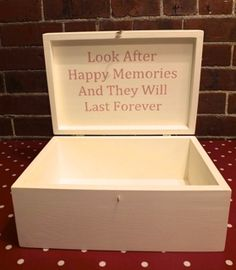 Commission. Memory Box made of solid pine, I added a little some thing special on the inside of the lid.