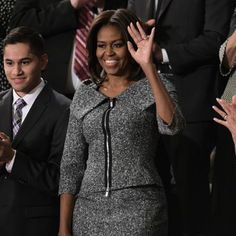 Michelle Obama in Michael Kors at the 2015 State of the Union (Alicia Florrick wore it on The Good Wife as well!)