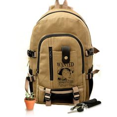 bea2943146 One Piece Canvas Backpack Schoolbag Rucksack Anime Book Bag