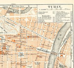 Turin Map Full HD MAPS Locations Another World Pices MAPS - Buy vintage maps