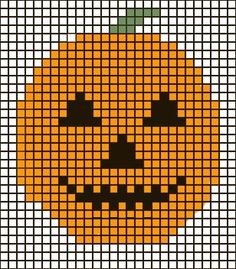 Pumpkin graph for Felted Halloween Trick or Treat Bag.  ☀CQ #crochet #halloween #pumpkin #jackolantern #crafts #DIY
