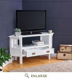 carson corner tv stand in white southern enterprises ms8887