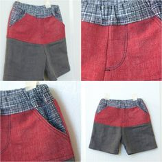 Color-blocked Boy Shorts // tutorial and tips for sewing boy shorts // by CailaMade