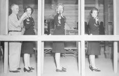 Shooting practice at 1940s SPARs academy;  http://womenofwwii.com/images/coastguardspars/coastguardspars9.jpg