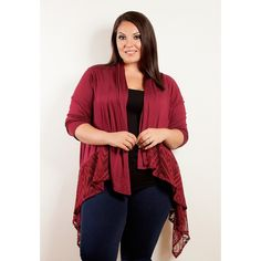 Sealed with a Kiss Women's Plus Size 'Lauren' Crochet Cardigan
