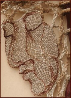 Lace & Wood - Wall Decoration with Lace - Agnes Herczeg Thread Art, Thread Painting, Bobbin Lace, Needle Lace, Branch Art, Types Of Lace, Lace Art, Ribbon Jewelry, Point Lace