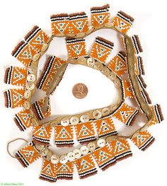 Xhosa Beaded Love Letter Belt Necklace 33 Letters S.African - Xhosa - Beadwork