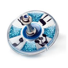 Acrylic Hanukkah Dreidel of Sparkling Blue