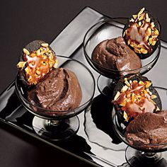 MyRecipes recommends that you make this Almond-Mocha Mousse recipe from Cooking Light