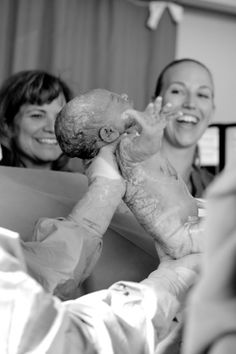 documentary photography of a birth