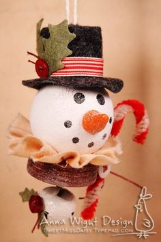 snowman try with tea light and ping pong ball