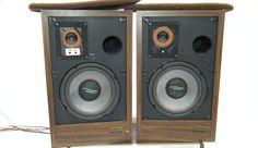 RARE PAIR BURHOE ACOUSTICS GREEN BOOKSHELF SPEAKERS Legendary BIG Sound 70's #BURHOE