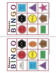 SHAPES BINGO for classrooms or homeschool.