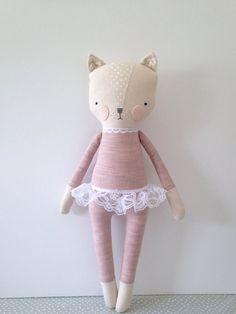 luckyjuju kitty girl cat lovie doll by luckyjuju on Etsy