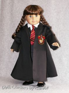 Harry Potter Gryffindor Outfit fits 18 by DollClothesbyCarole