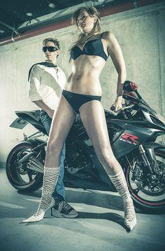 My first photoshoot. Photo: Lars Brandt Stisen. #photography #model #bike #garage #swimsuit #aarhus #denmark #stisen #maddocman