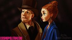 If Disney Princes Starred In Leonardo DiCaprio Movies. Kristoff and Anna in Gangs of NY.