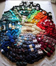 Yarn stash 2011 color wheel style
