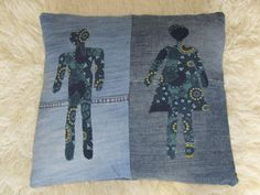 His 'n' Hers cushion cover by ShellyBerryOriginal on Etsy, £25.00